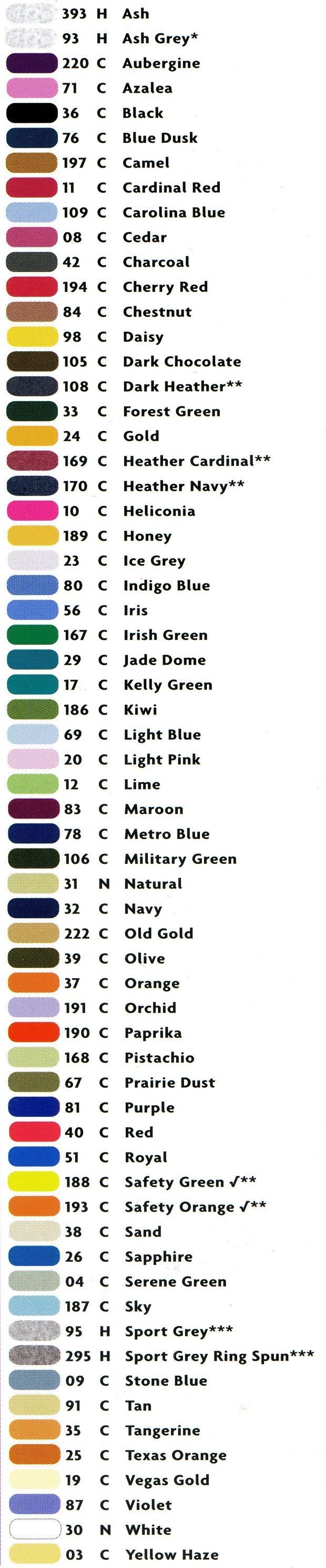 Gildan Colours