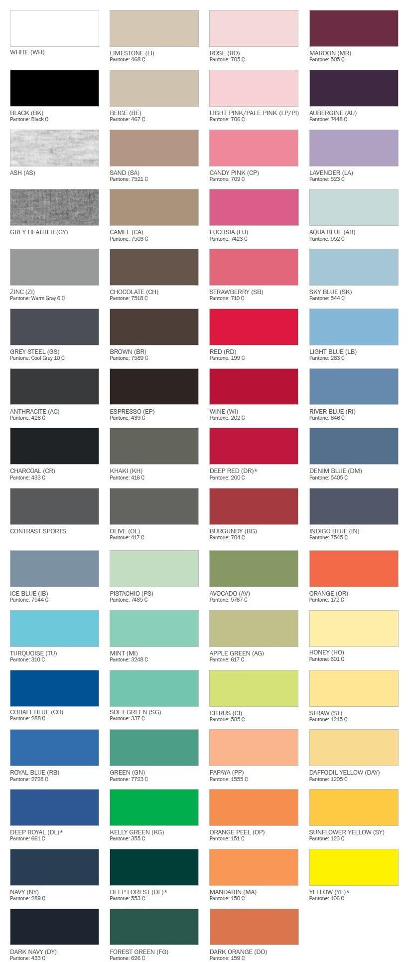 Hanes Colours 2012